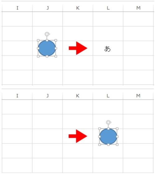 エクエルで丸を囲む方!ステップ3「丸を文字の上に移動」